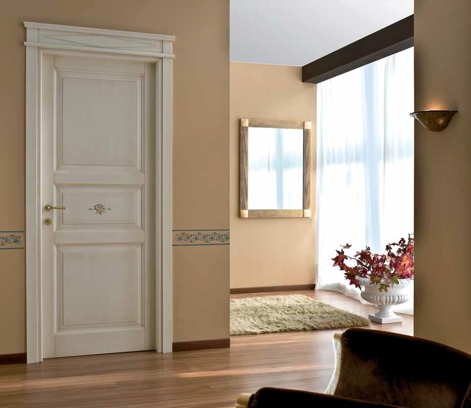 Porte classiche dalle linee morbide e familiari franchi - Porte interne color panna ...