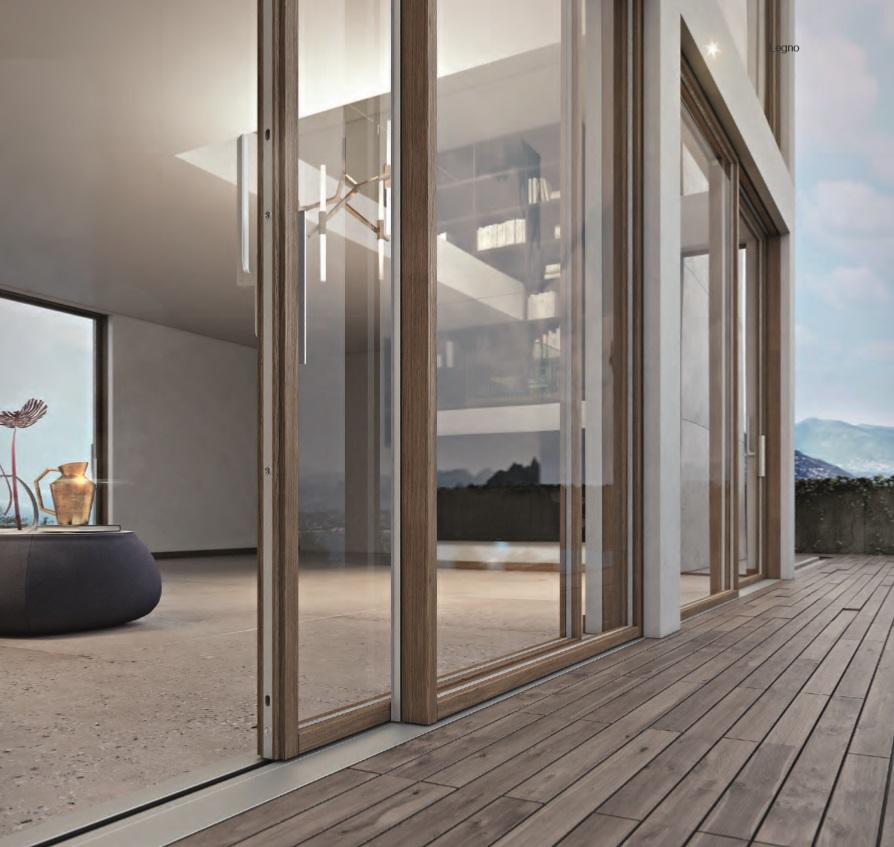 Finestre pvc legno amazing finestre in pvc with finestre - Porta finestra scorrevole esterna ...