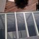 particolare della copertura veranda realizzata in cristallo stratificato