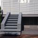 prospetto di veranda e scala