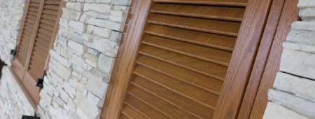 Persiane in legno su telaio